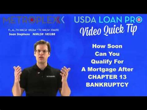 how soon after bankruptcy can you buy a house how soon can you qualify for a mortgage after a chapter 13 bankruptcy youtube