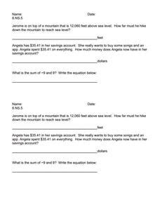 6 Ns 1 Worksheets by Exit Ticket 6 Ns 5 Worksheet For 5th 7th Grade Lesson