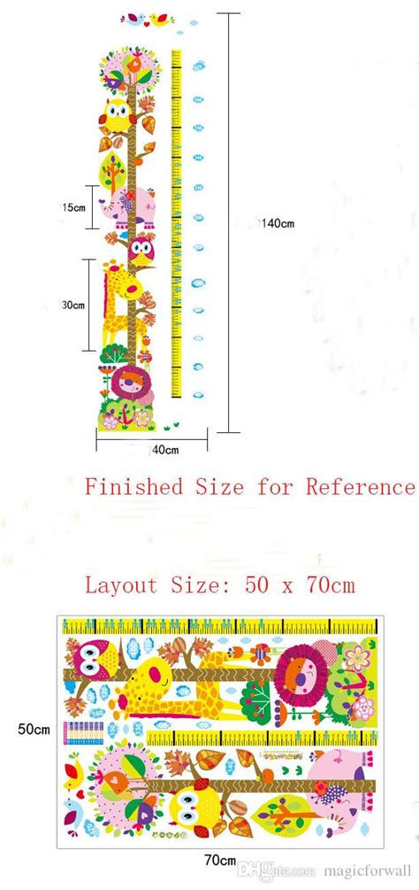 printable animal height chart new cute and friendly animals height growth chart decal