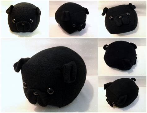 black pug pillow black pug loaf medium