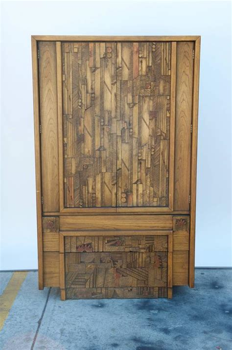 lane armoire carved brutalist armoire by lane for sale at 1stdibs