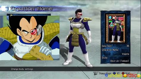soul calibur 5 dbz vegeta character creation youtube