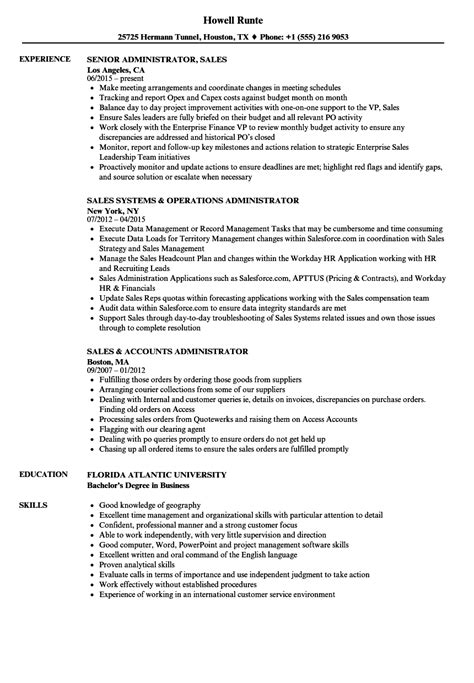 principal resume sles account administrator sle resume automobile mechanic