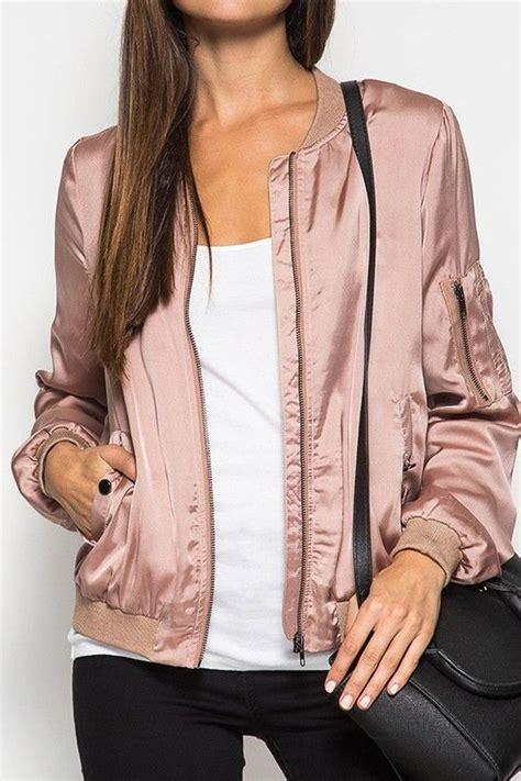 Dusty Pink Silk Satin satin bomber jacket satin bomber jacket dusty and room