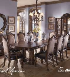 Michael Amini Signature Series Monte Carlo Ii 9 Pc Dining Set Cafe Noir By Michael