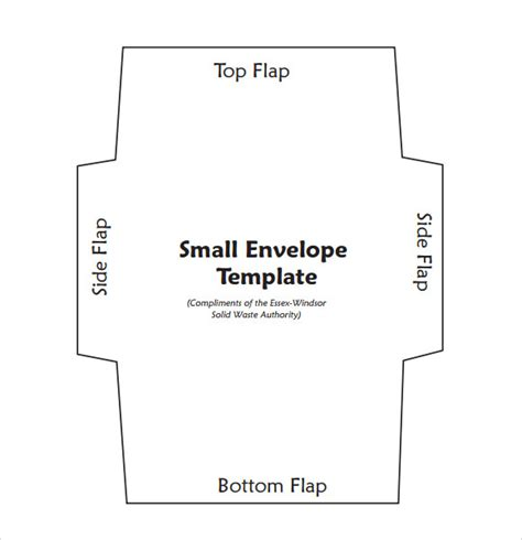 printable small envelope template sle small envelope template 7 free documents in pdf