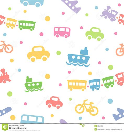 pattern drawing toy seamless pattern toy transport royalty free stock photos