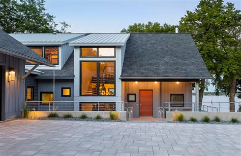 home design center minneapolis contemporary lake house in minnesota encourages fun