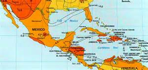 solar insolation map mexico central america carribean