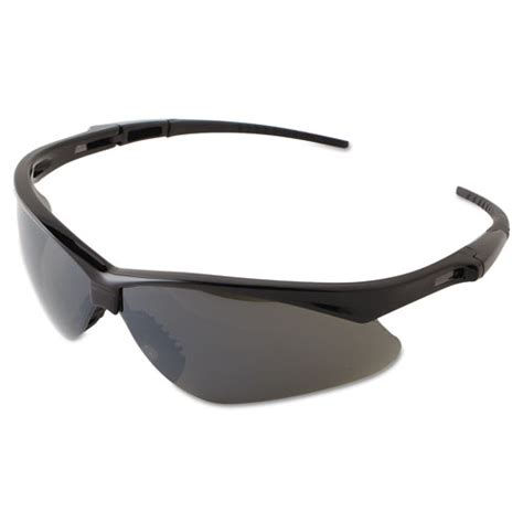 Polarized Sunglasses Rbandidos jackson safety v30 nemesis safety eyewear black frame smoke mirror lens