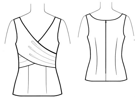 sewing pattern wrap top top with wrap sewing pattern 5618 made to measure