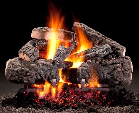hargrove gas logs radiant heat series cross timbers