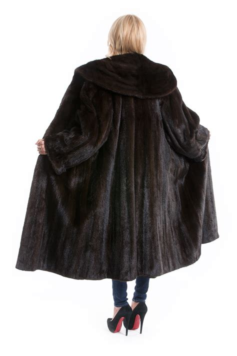 luxury ladies fur coats buy luxury mink coat brown giant fur collar fur hem 170 cm