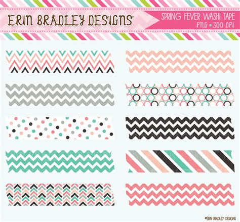 washi tape designs erin bradley designs new cute bugs digital papers