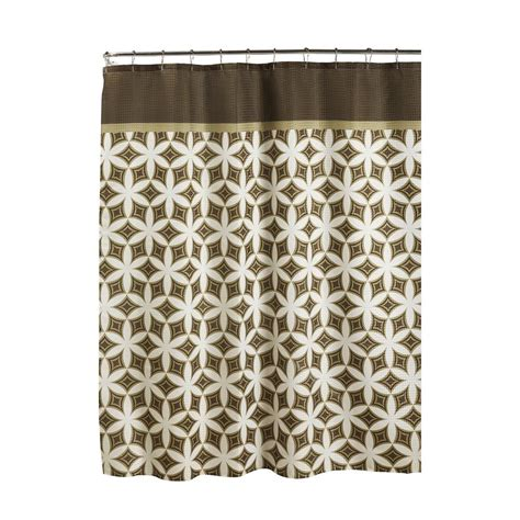 Roller Shower Curtain Rings Ideas Creative Home Ideas Oxford Weave Textured 70 In W X 72 In L Shower Curtain With Metal Roller