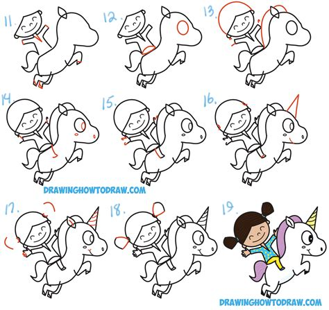 how to draw a kawaii chibi a unicorn in