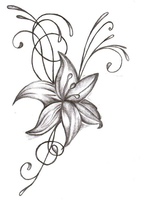 pencil tattoo designs flower tattoos