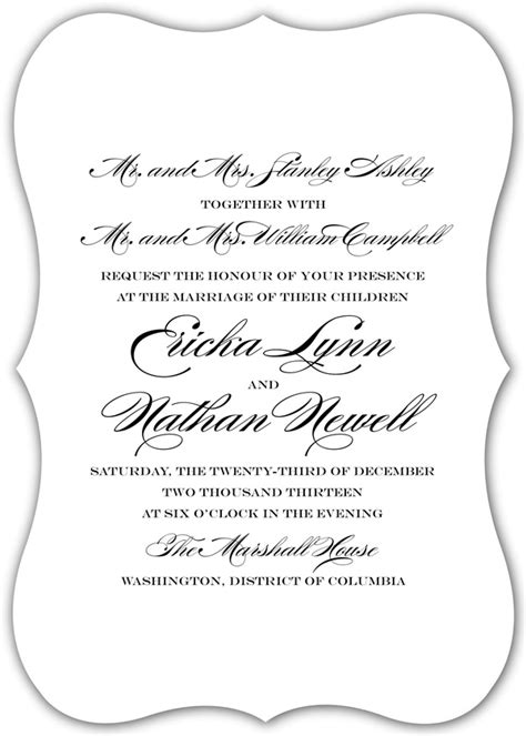 Wedding Invitation From Parents by Wedding Invitation Wording Both Parents Theruntime