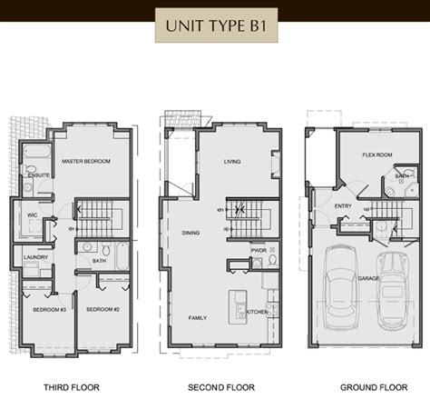 3 story house floor plans 3 storey house floor plans