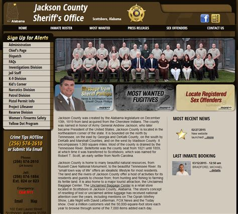 Jackson County Sheriffs Office by New Website Launched Press Releases Jackson County