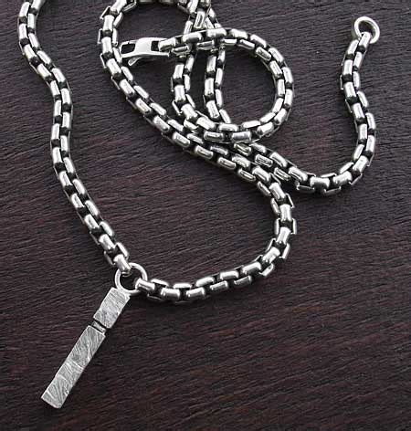 love2have solid sterling silver mens chain necklace with