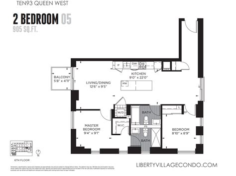 2 bedroom condo floor plans ten93 queen west pre construction condo liberty village