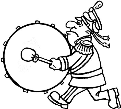 coloring pages drummer boy drums drummer coloring pages parade bass drum player