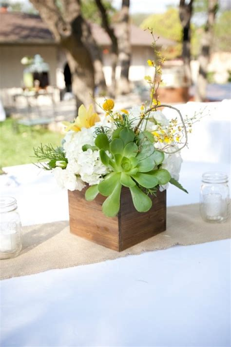 24 succulent centerpieces for your reception table weddingomania