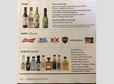 Airline Drink Menus - Alcademics Jack S Flight Club