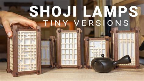 making mini japanese lamps   kumiko panels