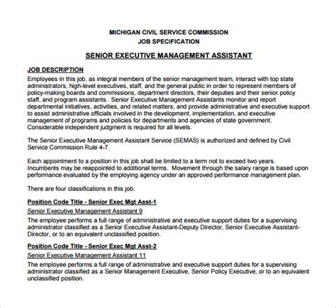 10 Executive Assistant Job Description Templates Free Sle Exle Format Download Executive Assistant Description Template