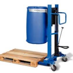 Used Plastic Storage Containers - drum lifter for 205 litre steel drums 220 litre plastic drums narrow wheel base