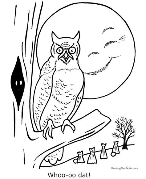 free printable halloween owl coloring pages free printable halloween owl coloring page 010