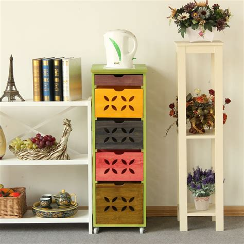 modern colorful furniture solid wood furniture modern chinese colorful sideboard