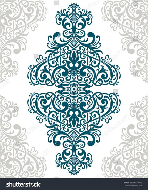 pattern vector motifs vector vintage baroque border frame card cover flower
