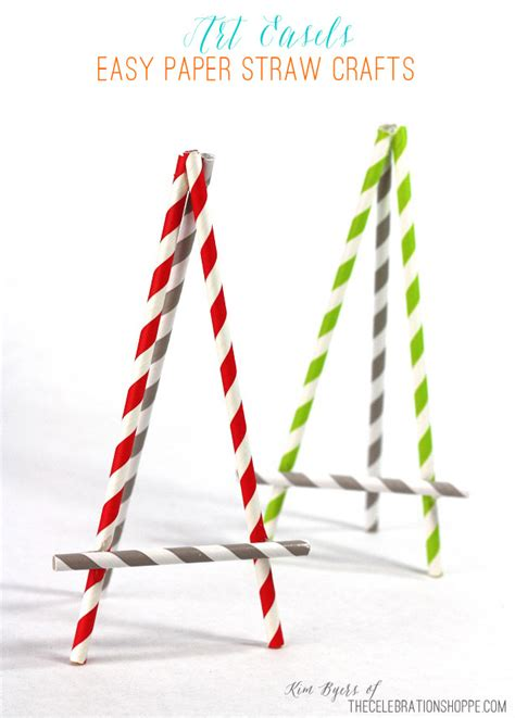 Paper Straw Craft Ideas - diy easel made from paper straws easel diy