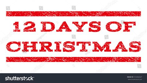 12 days of rubber sts 12 days watermark st text stock illustration