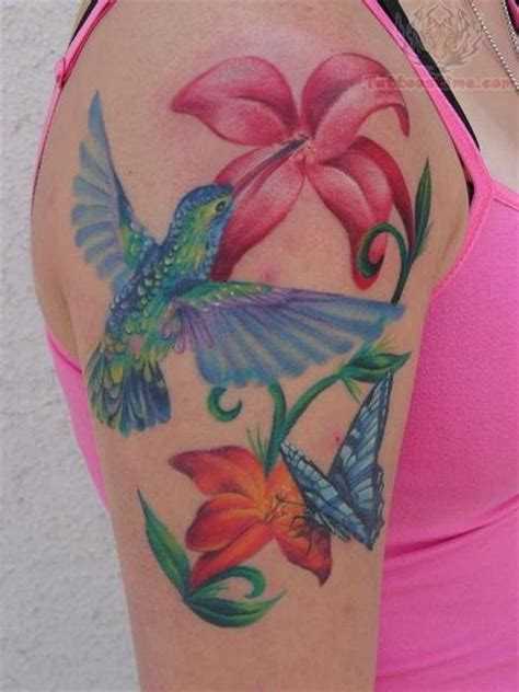 tattoo hummingbird flower tattoos of humming bird hummingbird tattoo on shoulder