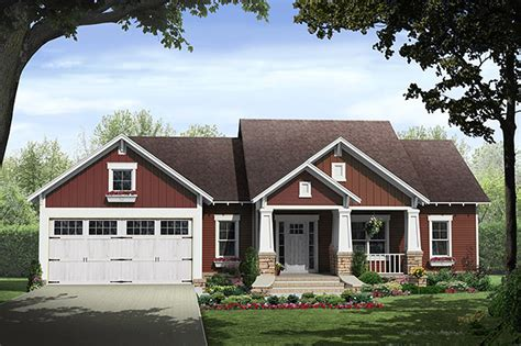 craftsman ranch craftsman style house plan 3 beds 2 baths 1801 sq ft