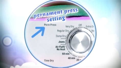 is permanent press the hottest setting on a dryer