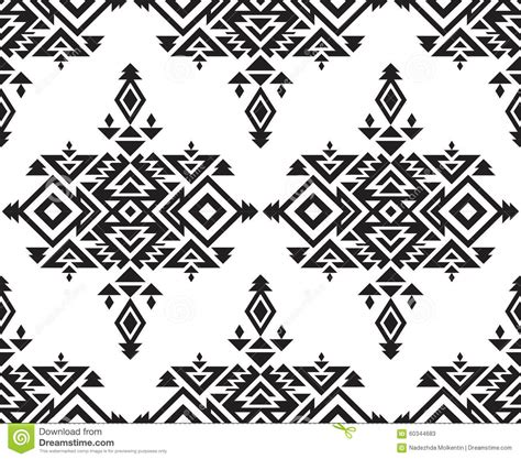 ornamental seamless pattern vector abstract background black and white ethnic textile decorative ornamental