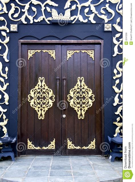 traditional malay house doors stock photo image