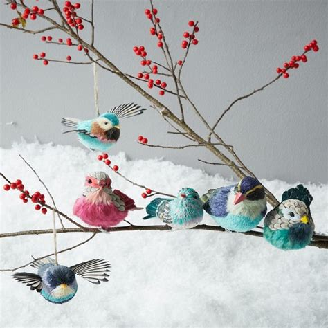 bird decorations for home sisal bird ornaments contemporary christmas ornaments