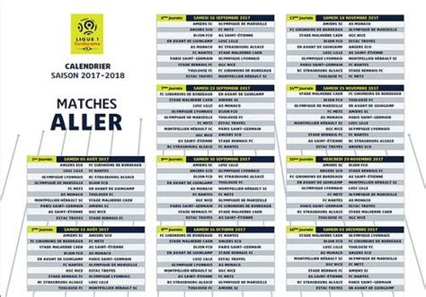 Calendrier De La Ligue 2 T 233 L 233 Charger Calendrier Officiel Ligue 1 2017 2018 Pour