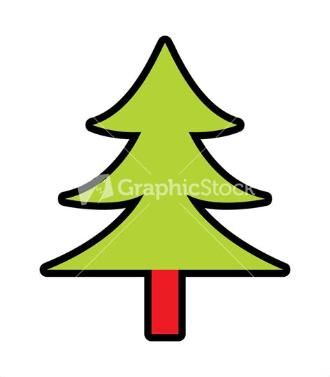 how to shape a christmas tree shape of tree stock image