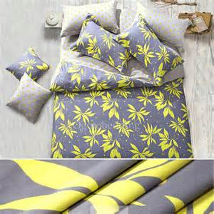 Artsy Bedding Sets Clearance Leaf Pattern Artsy Bedroom Yellow And Gray Comforter Sets Ogb14120202 81 99