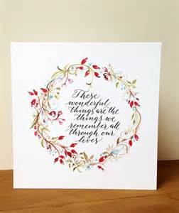 calligraphy christmas card with rosehip wreath by calligraphy for weddings notonthehighstreet com