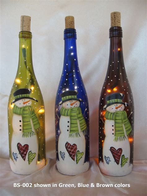 wine bottle ls crafts click to close crafts pinterest bottle wine and snowman