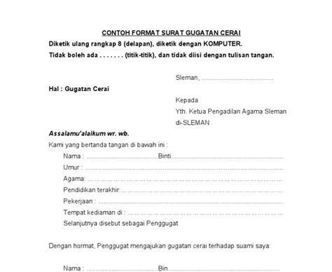 contoh surat gugatan di pengadilan negeri surat 29