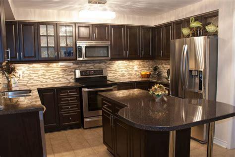 kitchens with dark wood cabinets kitchen backsplash ideas with dark wood cabinets home